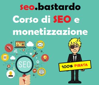 Il primo corso di SEO e monetizzazione in Italia